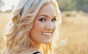 Wallpaper look, Carrie Underwood, blonde, country, smile, singer, Carrie Underwood, teeth