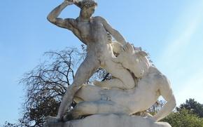 Picture Paris, fight, warrior, statue, The Tuileries Garden