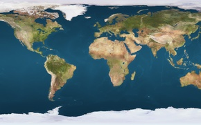 Wallpaper Earth, continents, Earth, oceans, physical map