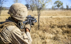 Picture soldiers, United States Marine Corps, M16A4