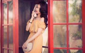 Wallpaper phone, girl, Asian