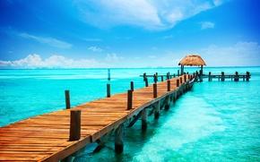 Picture sea, summer, tropics, pierce, beach, sea, paradise, pier, tropical