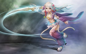 Picture decoration, weapons, magic, sword, art, girl, Nina Hu