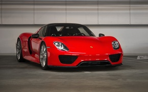 Picture Porsche, Red, Spyder, 918