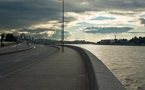 Picture the evening, Saint Petersburg, promenade, Peter, Neva, Petersburg