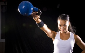Picture crossfit, kettlebell, training, workout