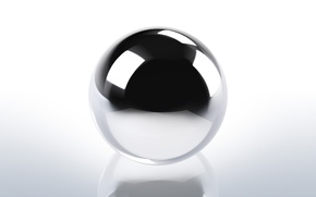 Picture background, black and white, ball, transparent, sphere, chrome