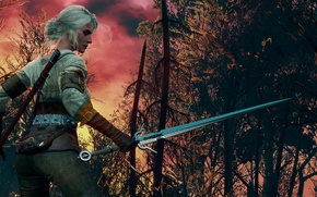 Picture The Witcher, CRIS, The Witcher 3:Wild Hunt, Burning skies
