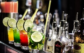Picture alcohol, cocktail, lime, drink, tube, Drink, Cocktail, Lemons