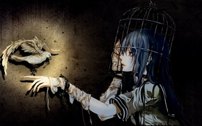 Picture girls, on the desktop, Gothic elements, Wallpaper anime