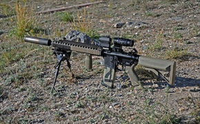 Picture earth, machine, assault rifle, AR-15, assault rifle, fry