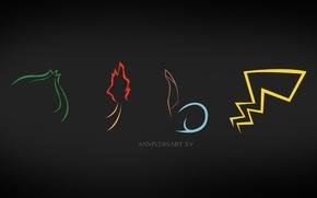 Picture pokemon, charmander fire, Pikachu, tails pokemon, bulbasaur, squirtle