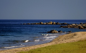 Picture sea, stones, coast
