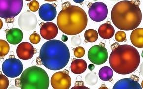 Wallpaper holiday, balls, new year, colorful