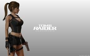 Picture Girl, Background, Weapons, Tomb Raider, Underworld, Lara Croft