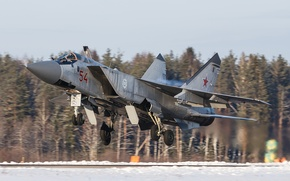 Picture fighter, the airfield, the rise, double, interceptor, The MiG-31