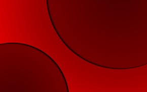 Picture red, red, abstraction, shadow, line, color, solid, texture, geometry, shadow, circles, circle