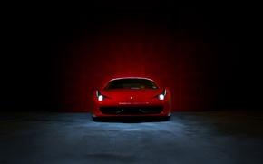 Picture light, lights, Boxing, red, ferrari, Ferrari, Italy, the front, 458 italia