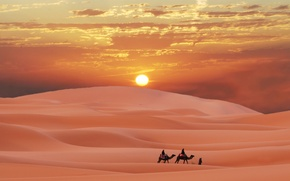 Wallpaper desert, desert, Sands, caravan, Sugar, Morocco, caravan in the Sahara, Berbers, Morocco, berber