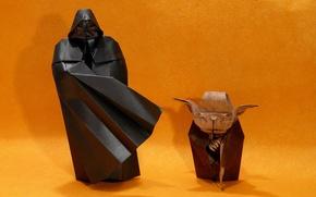 Picture paper, Darth Vader, origami, Angel Morollon