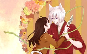 Picture romance, anime, art, Kamisaa The Hajimemashita, Tomoya, Nanami, very nice God