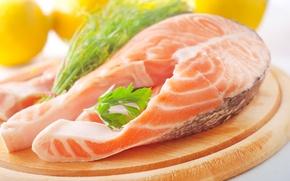Picture food, fish, dish, salmon, steak