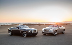 Wallpaper rolls-Royce, Dawn, Rolls-Royce, convertible, down
