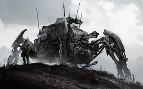 Picture robot, spider, art, mercenary, mech