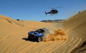Picture Sea, Volkswagen, Helicopter, Race, Touareg, Rally, Dakar, SUV, Touareg, Dakar