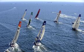 Picture the ocean, yachts, regatta