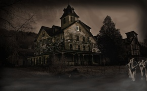 Picture darkness, mutants, killer, abandoned house