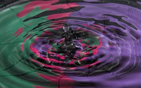 Picture water, color, drop, splash, the volume