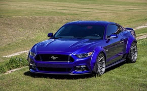 Picture mustang, wide, ford, deep, super, body, gloss, m621, gunmetal