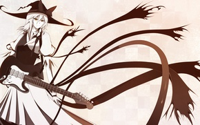 Picture girl, art, Touhou