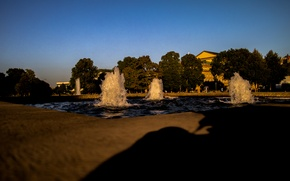 Picture City, Water, Park, Shadow, Stuttgart, Fountain