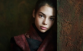 Picture portrait, Nastya, girl.brown-eyed