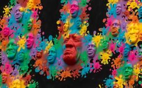 Picture color, texture, mask