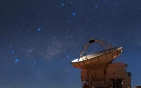 Wallpaper The milky way, Sagittarius, constellation, Scorpio, stars, radio telescope