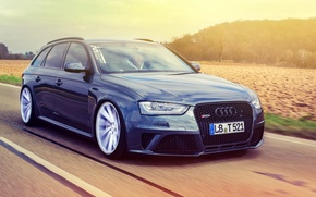 Picture Audi, Audi, RS4, vossen wheels, frontside