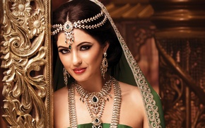 Picture girl, decoration, makeup, woman, Indian, indian brunette