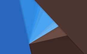 Picture line, blue, blue, texture, geometry, brown