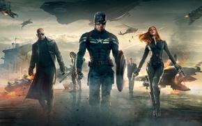 Picture Scarlett Johansson, Girl, Men, Guns, Marvel, Black Widow, Battleship, Natasha Romanoff, Chris Evans, Steve Rogers, ...