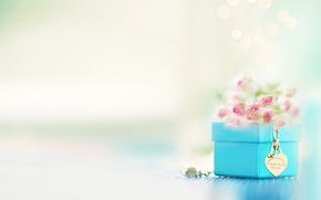 Picture decoration, flowers, box, pendant, Tiffani& Co