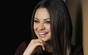 Picture actress, brunette, beautiful, Mila kunis