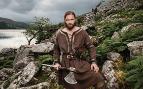 Picture the series, axe, nature, Vikings, historical, The Vikings, Clive Standen, drama, Rollo
