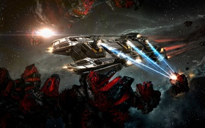 Picture space, fiction, the game, art, EVE Online