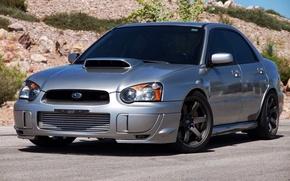 Picture Subaru, silver, impreza, sti