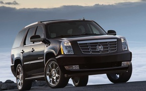 Wallpaper the sky, Escalade, Cadillac, Road