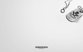 Picture white, background, minimalism, badge, chain, Point Blank, point blank, Fogeym, 4game