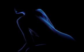 Wallpaper blue, black, Image